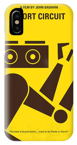 Factory iPhone Case - No470 My Short Circuit Minimal Movie Poster by Chungkong Art