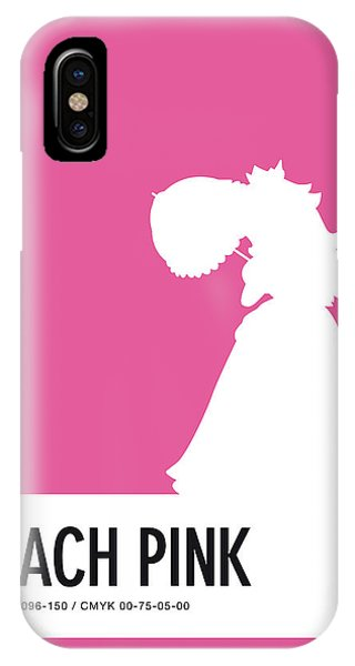 Daisy iPhone Case - No44 My Minimal Color Code Poster Peach by Chungkong Art