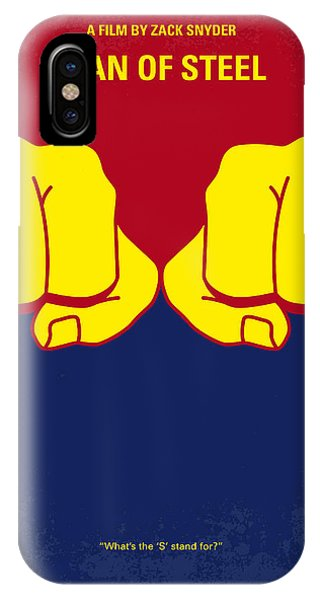 Steel iPhone Case - No447 My Men Of Steel Minimal Movie Poster by Chungkong Art