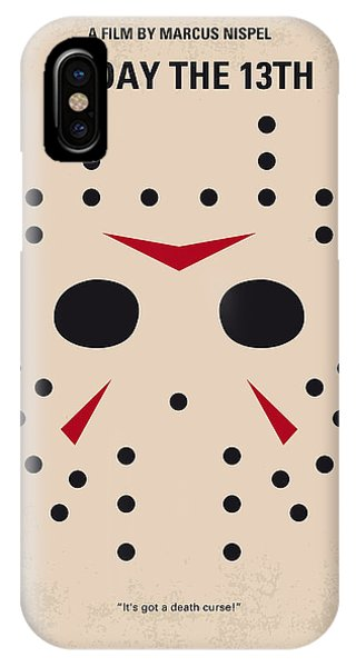 No449 My Friday The 13th Minimal Movie Poster IPhone Case