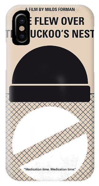 Cuckoo iPhone Case - No454 My One Flew Over The Cuckoos Nest Minimal Movie Poster by Chungkong Art