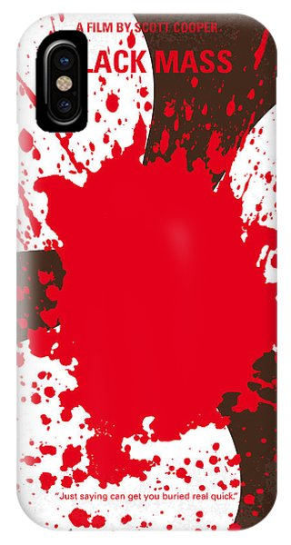 Irish iPhone Case - No471 My Black Mass Minimal Movie Poster by Chungkong Art