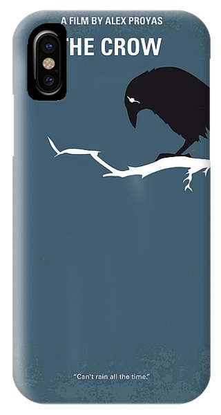 Crow iPhone Case - No488 My The Crow Minimal Movie Poster by Chungkong Art