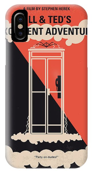 Brain iPhone Case - No490 My Bill And Teds Excellent Adventure Minimal Movie Poster by Chungkong Art