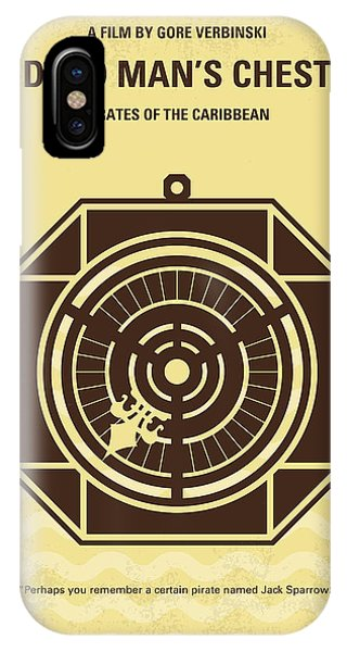 Sparrow iPhone Case - No494-2 My Pirates Of The Caribbean II Minimal Movie Poster by Chungkong Art