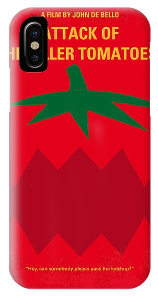 Tomato iPhone Case - No499 My Attack Of The Killer Tomatoes Minimal Movie Poster by Chungkong Art