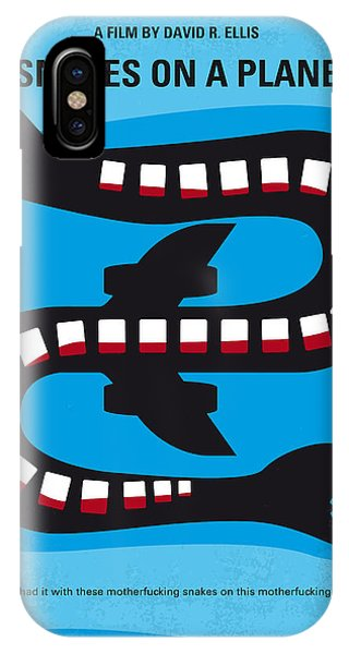 No501 My Snakes On A Plane Minimal Movie Poster IPhone Case