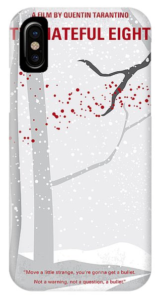 Hunting iPhone Case - No502 My Hateful Eight Minimal Movie Poster by Chungkong Art