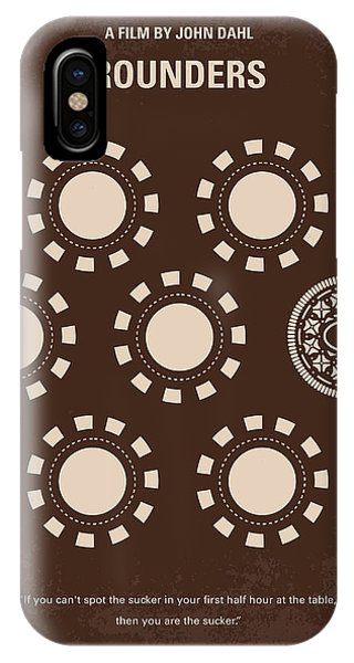No503 My Rounders Minimal Movie Poster IPhone Case