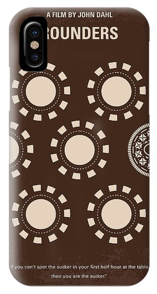 Players iPhone Case - No503 My Rounders Minimal Movie Poster by Chungkong Art