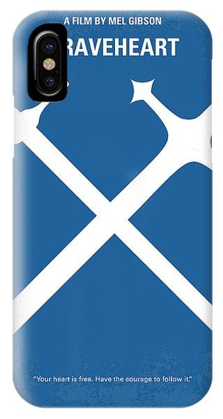 Scotland iPhone Case - No507 My Braveheart Minimal Movie Poster by Chungkong Art