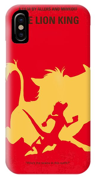 King iPhone Case - No512 My The Lion King Minimal Movie Poster by Chungkong Art