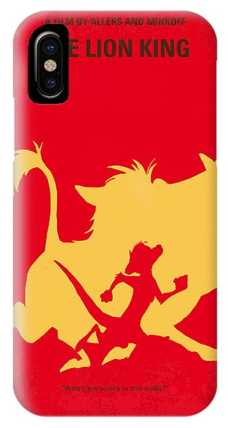 Lions iPhone Case - No512 My The Lion King Minimal Movie Poster by Chungkong Art