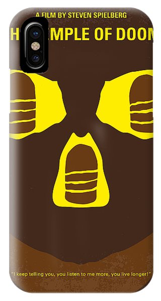 Harrison iPhone Case - No517 My The Temple Of Doom Minimal Movie Poster by Chungkong Art