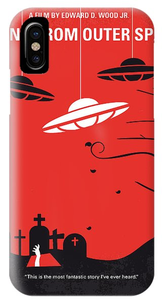 Space iPhone Case - No518 My Plan 9 From Outer Space Minimal Movie Poster by Chungkong Art