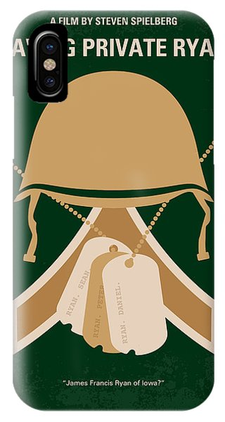 Style iPhone Case - No520 My Saving Private Ryan Minimal Movie Poster by Chungkong Art