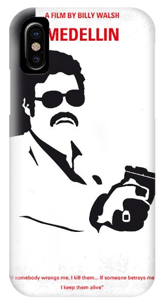 Colombian iPhone Case - No526 My Medellin Minimal Movie Poster by Chungkong Art