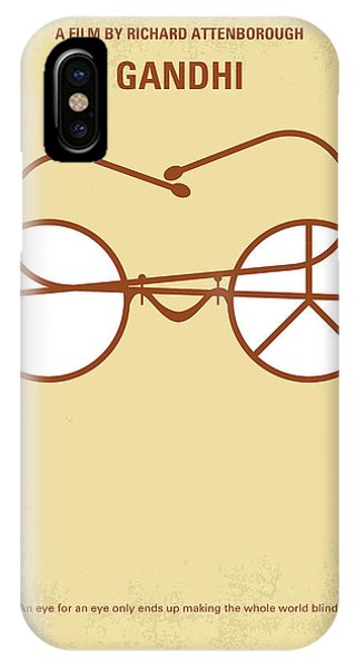 Ben iPhone Case - No543 My Gandhi Minimal Movie Poster by Chungkong Art