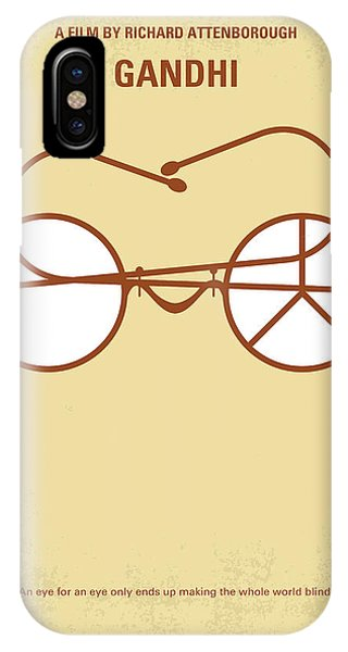 Protest iPhone Case - No543 My Gandhi Minimal Movie Poster by Chungkong Art