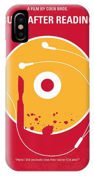 Reading iPhone Case - No547 My Burn After Reading Minimal Movie Poster by Chungkong Art