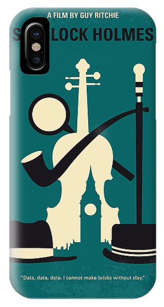 Yard iPhone Case - No555 My Sherlock Holmes Minimal Movie Poster by Chungkong Art