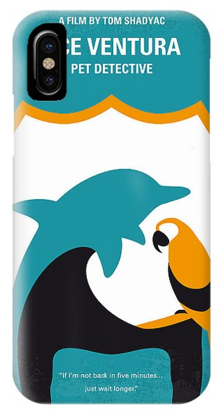 Miami iPhone Case - No558 My Ace Ventura Minimal Movie Poster by Chungkong Art