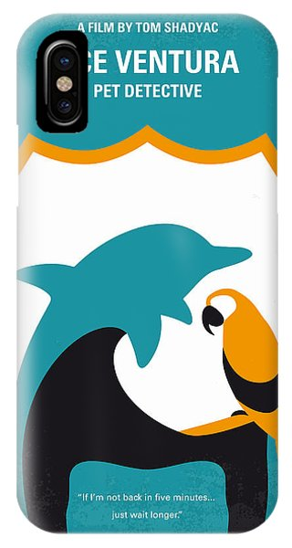 Dolphin iPhone Case - No558 My Ace Ventura Minimal Movie Poster by Chungkong Art