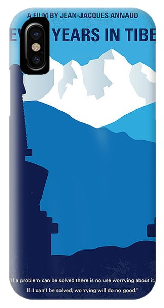 Buddhism iPhone Case - No559 My Seven Years In Tibet Minimal Movie Poster by Chungkong Art