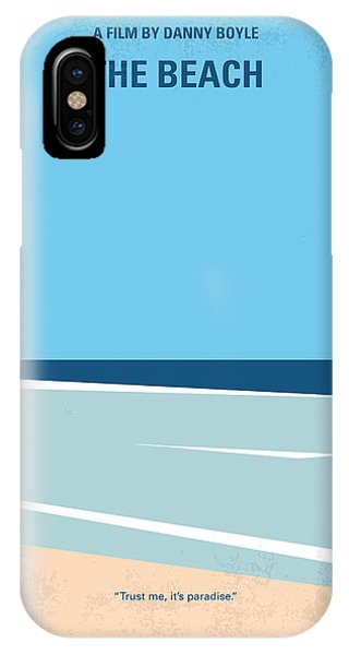 Minimalist iPhone Case - No569 My The Beach Minimal Movie Poster by Chungkong Art
