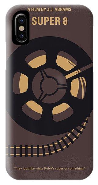 Crash iPhone X Case - No578 My Super 8 Minimal Movie Poster by Chungkong Art