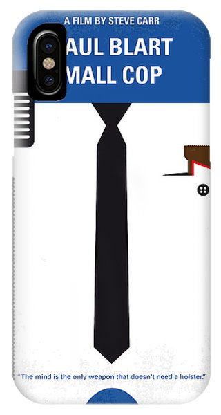 New Jersey iPhone Case - No579 My Paul Blart Mall Cop Minimal Movie Poster by Chungkong Art