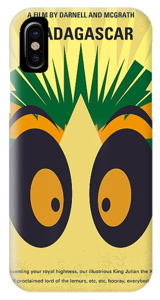 Penguin iPhone Case - No589 My Madagascar Minimal Movie Poster by Chungkong Art
