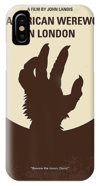 Wolf iPhone Case - No593 My American Werewolf In London Minimal Movie Poster by Chungkong Art
