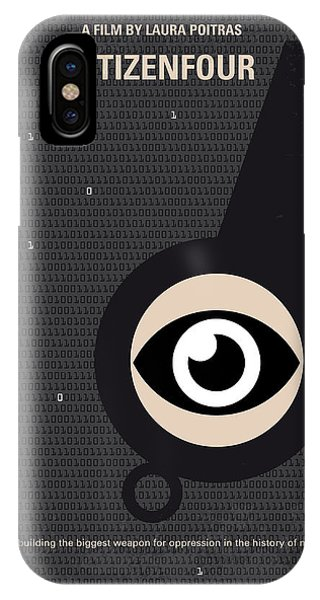 Hong Kong iPhone Case - No598 My Citizenfour Minimal Movie Poster by Chungkong Art
