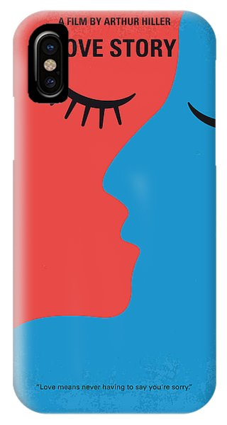 Students iPhone Case - No600 My Love Story Minimal Movie Poster by Chungkong Art