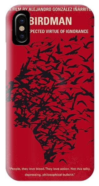 Superhero iPhone Case - No604 My Birdman Minimal Movie Poster by Chungkong Art