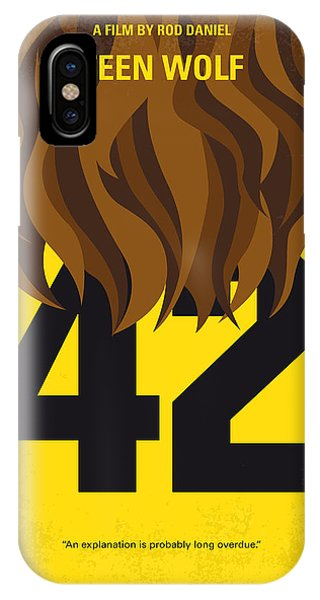 School iPhone Case - No607 My Teen Wolf Minimal Movie Poster by Chungkong Art