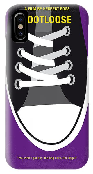 Dance iPhone Case - No610 My Footloose Minimal Movie Poster by Chungkong Art