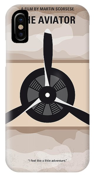 Airplane iPhone Case - No618 My The Aviator Minimal Movie Poster by Chungkong Art