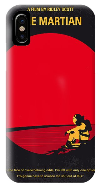 Planets iPhone Case - No620 My The Martian Minimal Movie Poster by Chungkong Art