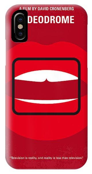 Brain iPhone Case - No626 My Videodrome Minimal Movie Poster by Chungkong Art