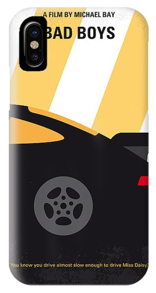 Miami iPhone Case - No627 My Bad Boys Minimal Movie Poster by Chungkong Art