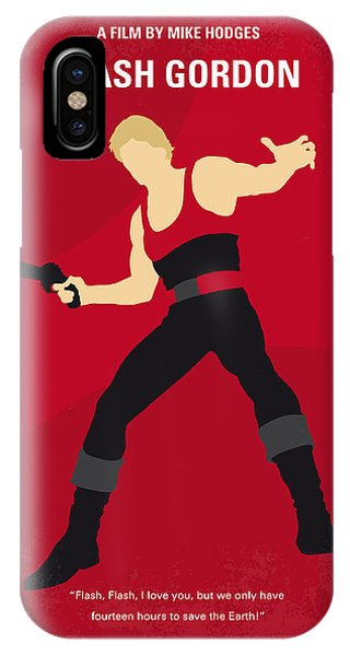 Players iPhone Case - No632 My Flash Gordon Minimal Movie Poster by Chungkong Art