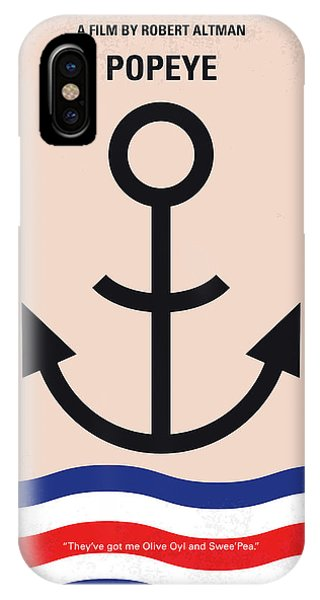 Flag iPhone Case - No648 My Popeye Minimal Movie Poster by Chungkong Art