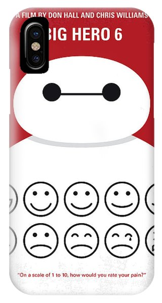 Hero iPhone Case - No649 My Big Hero 6 Minimal Movie Poster by Chungkong Art