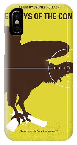No659 My Three Days Of The Condor Minimal Movie Poster IPhone Case