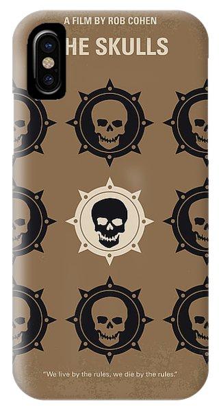 Skull iPhone Case - No662 My The Skulls Minimal Movie Poster by Chungkong Art