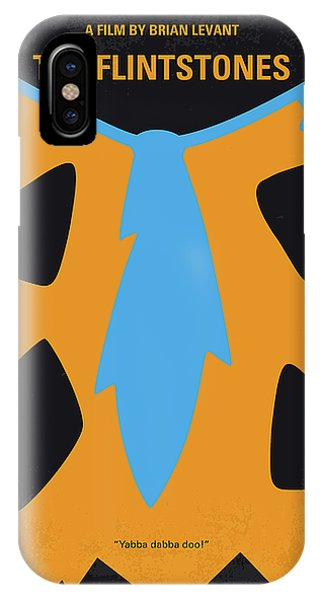 Cartoon iPhone Case - No669 My The Flintstones Minimal Movie Poster by Chungkong Art