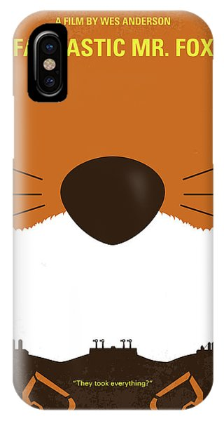 Fantastic iPhone Case - No673 My Fantastic Mr Fox Minimal Movie Poster by Chungkong Art