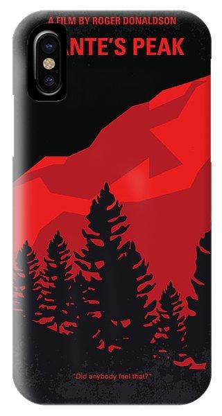 No682 My Dantes Peak Minimal Movie Poster IPhone Case